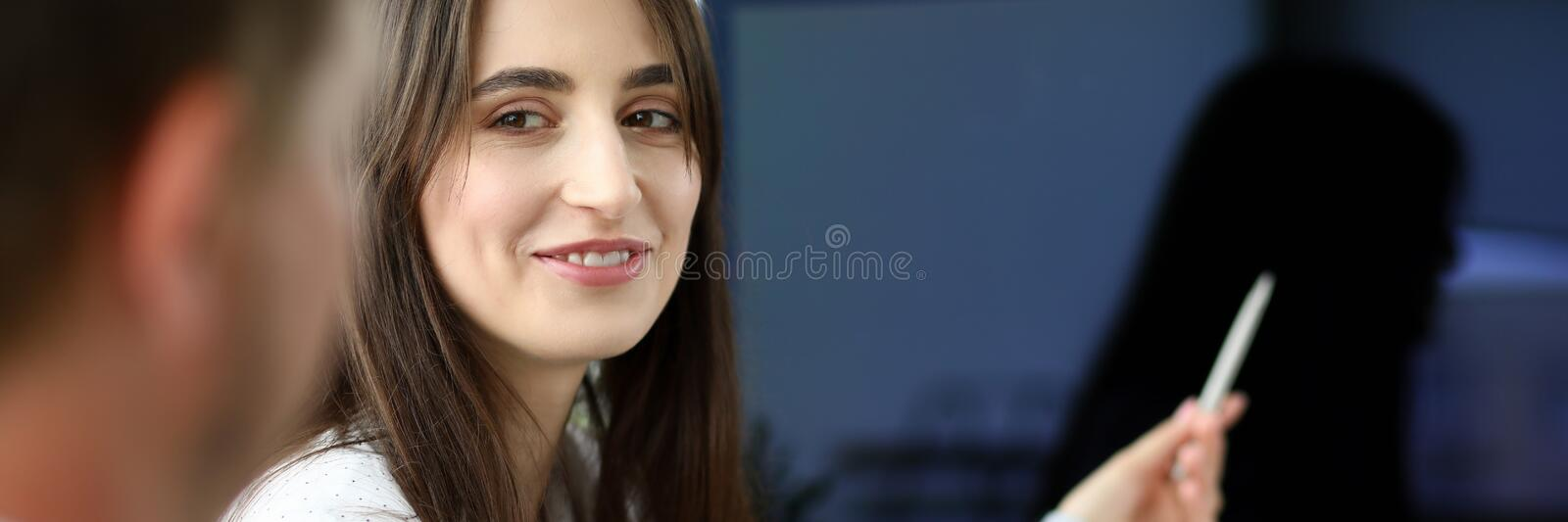 Smiling business female stock photography