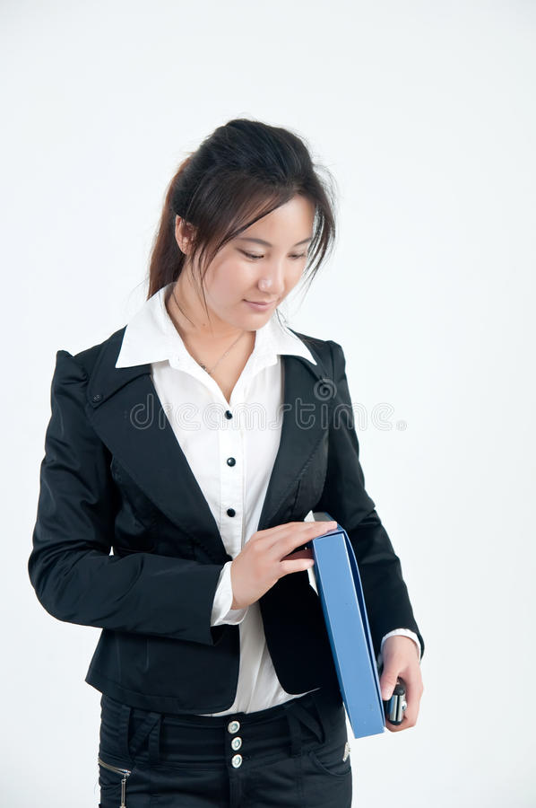 A Smiling business girl stock images