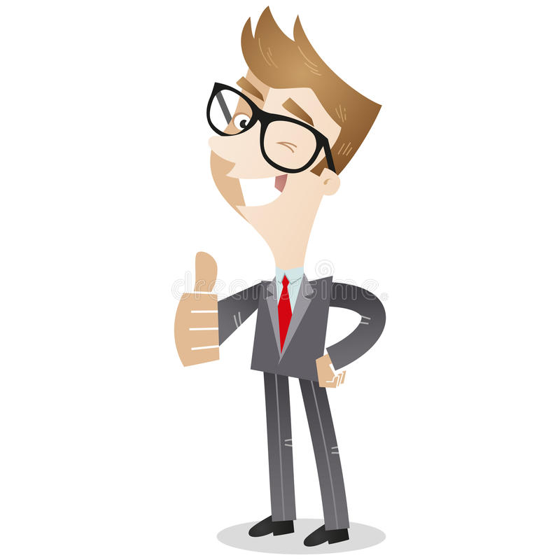 Smiling business giving the thumbs up royalty free illustration
