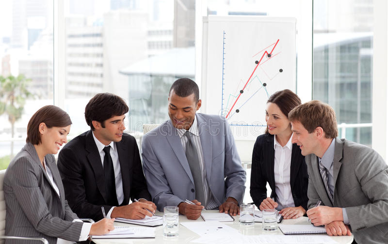 Download Smiling Business People Showing Diversity Stock Image - Image: 12191249