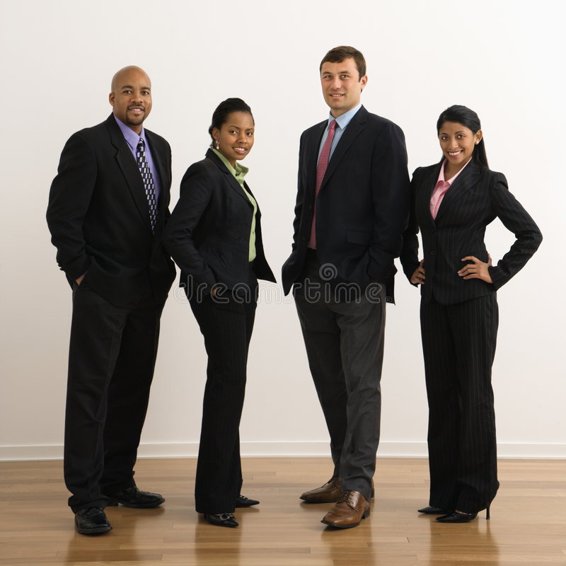 Smiling business portrait. royalty free stock photography
