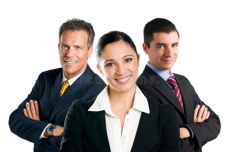 Smiling business team royalty free stock image