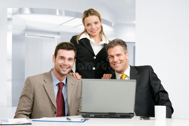 Download Smiling business team stock image. Image of people, office - 13340713