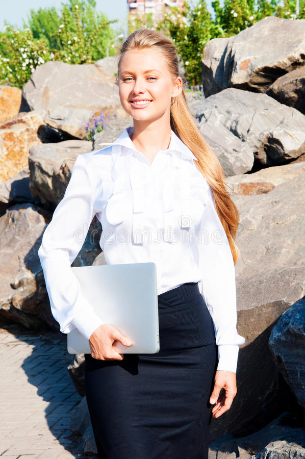 Download Smiling business woman stock photo. Image of background - 32121772
