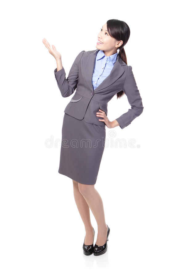 Download Smiling Business Woman Presenting Royalty Free Stock Photos - Image: 28526778