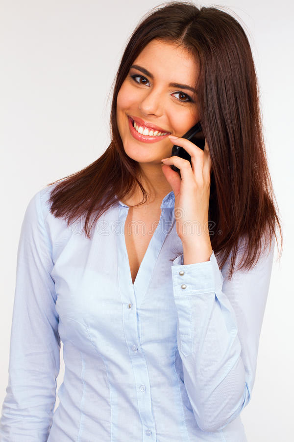 Download Smiling Business Woman Talking On The Phone Stock Photo - Image: 31203822
