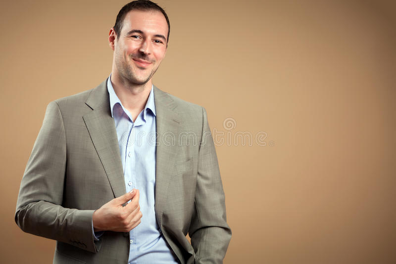 Download Smiling Businessman stock photo. Image of executive, hand - 25871402