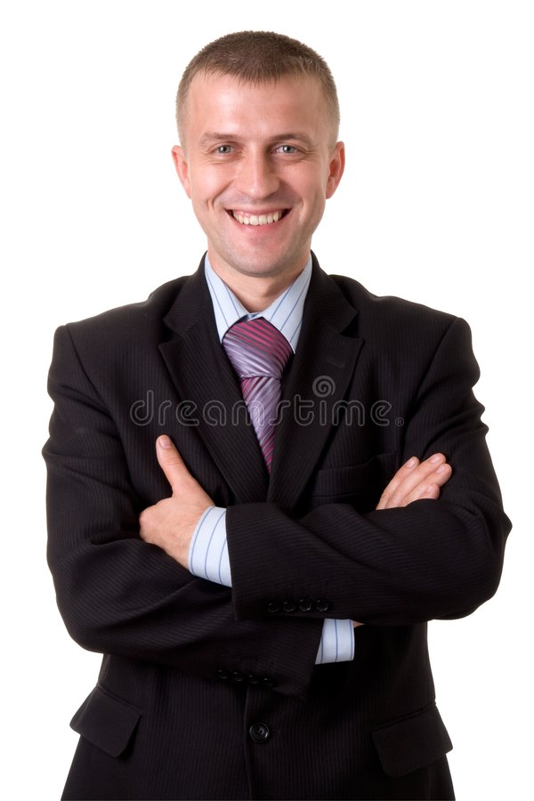 Download Smiling businessman stock photo. Image of human, happy - 6434304