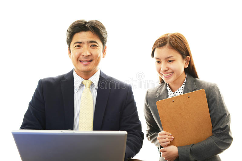 Download Smiling Businessman And Businesswoman Stock Image - Image of businessman, fresh: 39506201