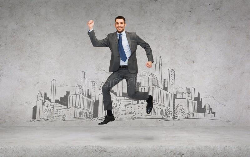 Download Smiling Businessman Jumping Stock Image - Image: 40042671