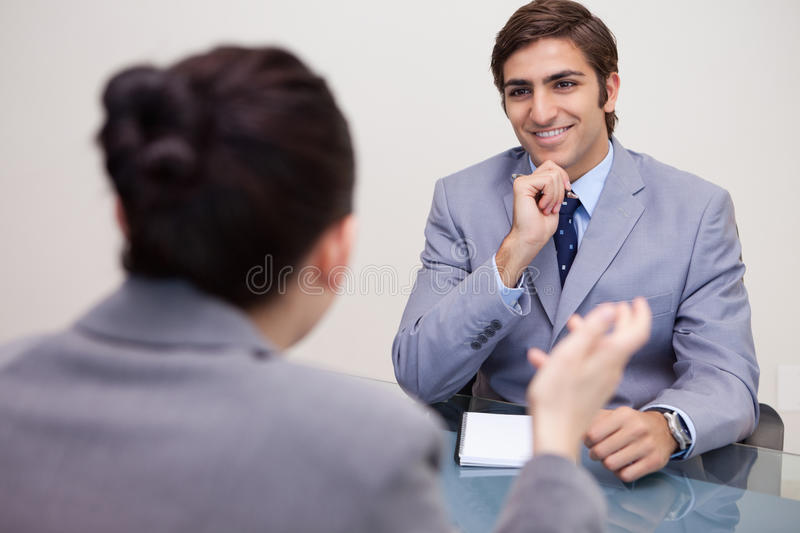 Download Smiling Businessman In A Negotiation Stock Image - Image: 22349783
