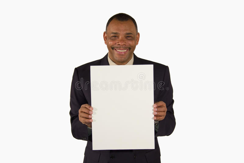 Download Smiling Businessman Presenting A Picture Board Royalty Free Stock Photo - Image: 13088895