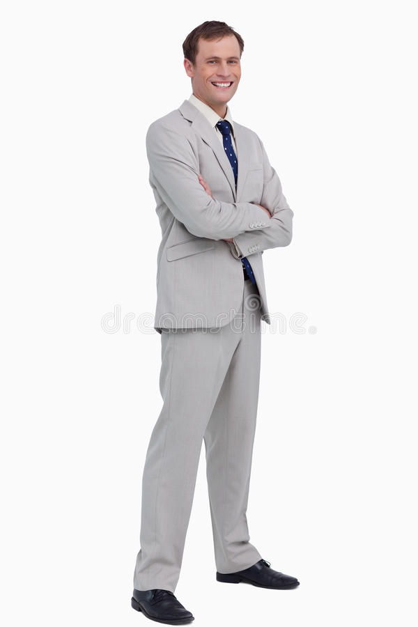 Download Smiling Businessman Standing With His Arms Folded Stock Image - Image: 23016127