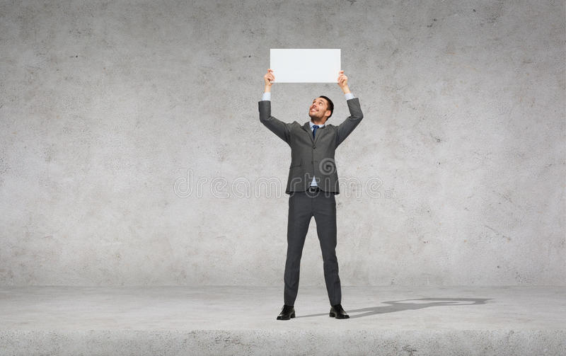 Download Smiling Businessman With White Blank Board Stock Image - Image: 40042717
