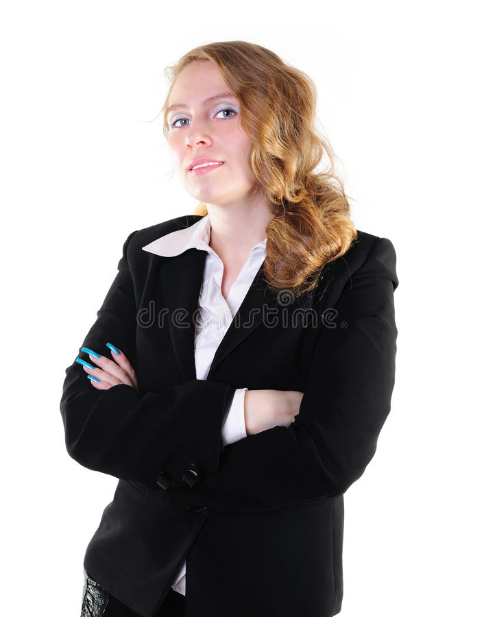 Download Smiling businesswoman stock image. Image of collar, hands - 14479549