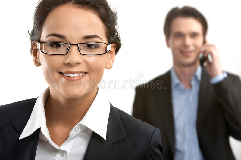 Smiling businesswoman royalty free stock photography