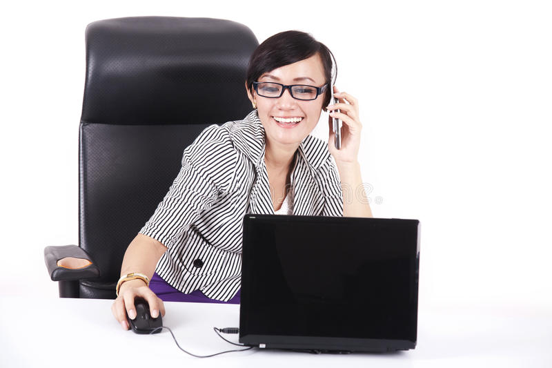 Download Smiling Businesswoman In Her Office Stock Image - Image: 22823455