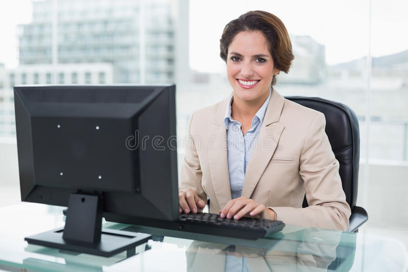 Download Smiling Businesswoman Looking At Camera Stock Photo - Image: 34397264