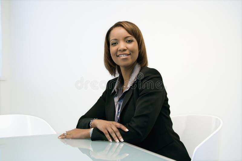 Smiling businesswoman portrait stock images