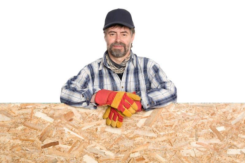 Download Smiling carpenter stock image. Image of advertiser, male - 24787829