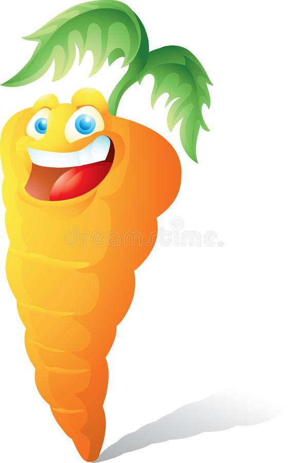 Free Smiling Carrot Cartoon Royalty Free Stock Images - 43162519