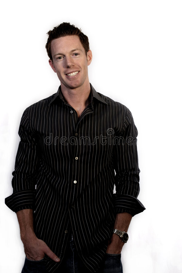 Smiling Casual Man. Attractive man smiling and casual royalty free stock images