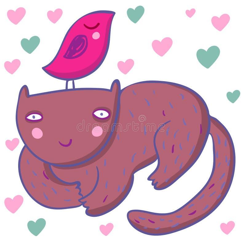 Download Smiling Cat- Cute Children Illustration Stock Vector - Image: 8725184