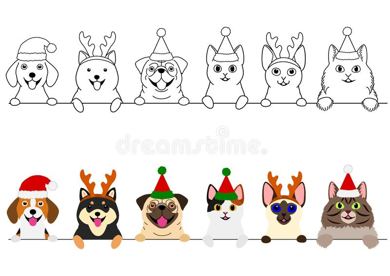 Cats Christmas Stock Illustrations 1 981 Cats Christmas Stock Illustrations Vectors Clipart Dreamstime
