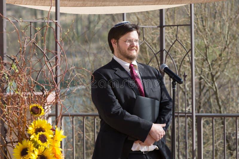 Smiling Bearded Rabbi royalty free stock image
