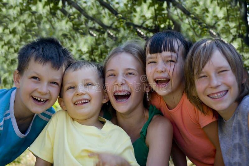 Smiling children stock images