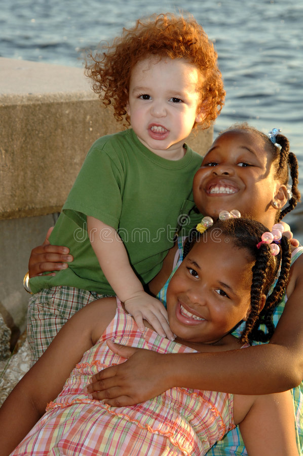 Smiling children royalty free stock photography
