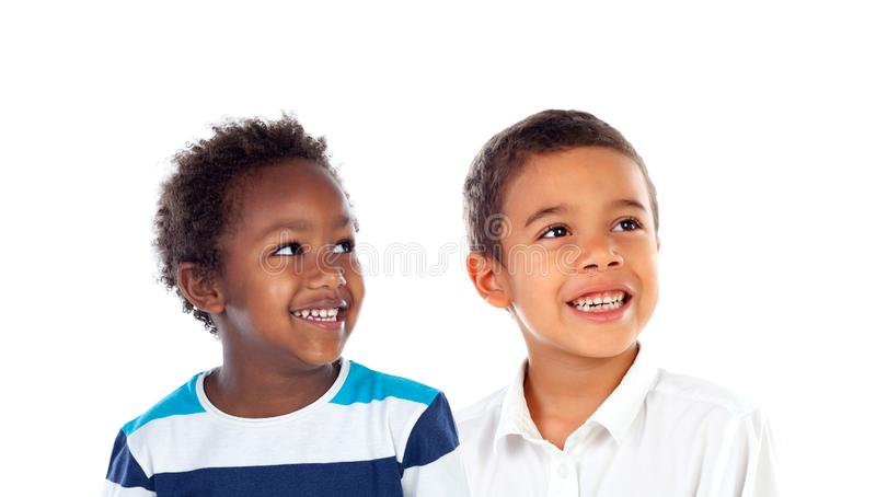 Smiling children stock photo
