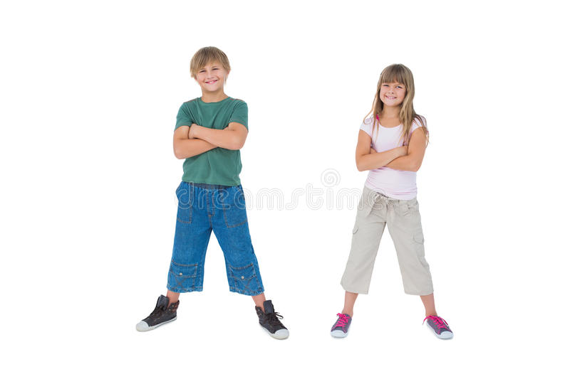 Download Smiling Children With Their Arms Crossed Stock Image - Image: 32512381