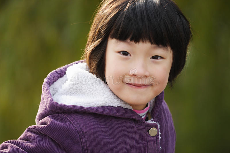 Smiling chinese girl royalty free stock image