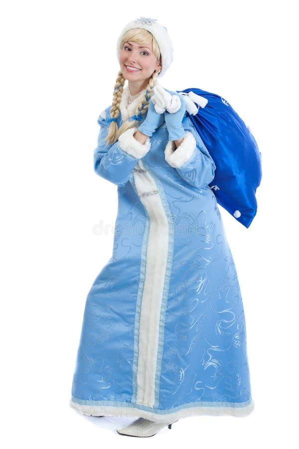 Download Smiling Christmas Girl With Big Present Stock Image - Image: 26870929