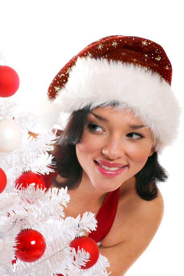 Download Smiling Christmas woman stock image. Image of dress, christmas - 6982807