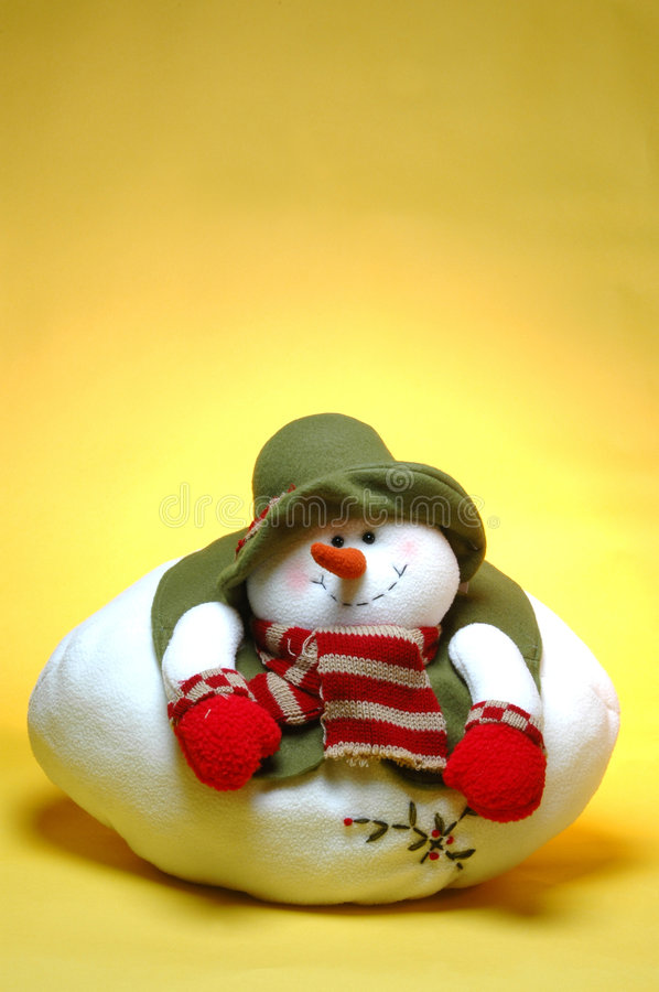 Smiling Chubby Snowman Royalty Free Stock Photography