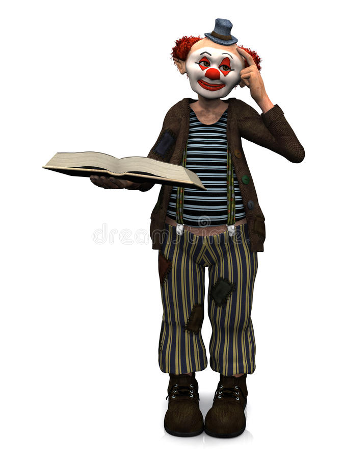 Download Smiling Clown Holding Book. Royalty Free Stock Images - Image: 11237219