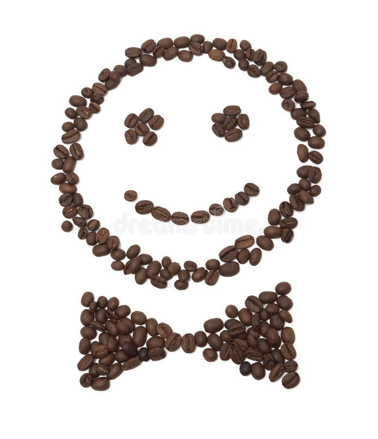 Smiling coffee beans royalty free stock images
