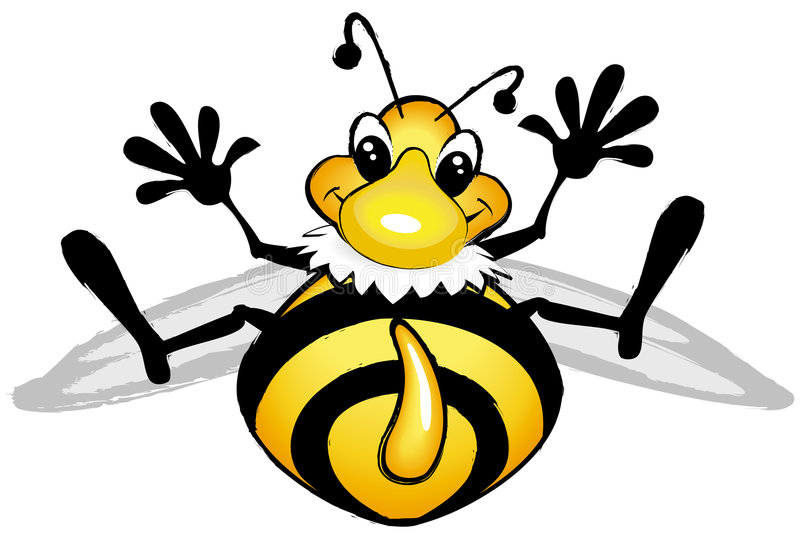 Download Smiling Comic Bee Stock Photo - Image: 4217950