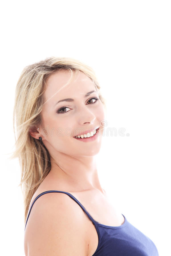 Download Smiling confident woman stock photo. Image of model, background - 26483338