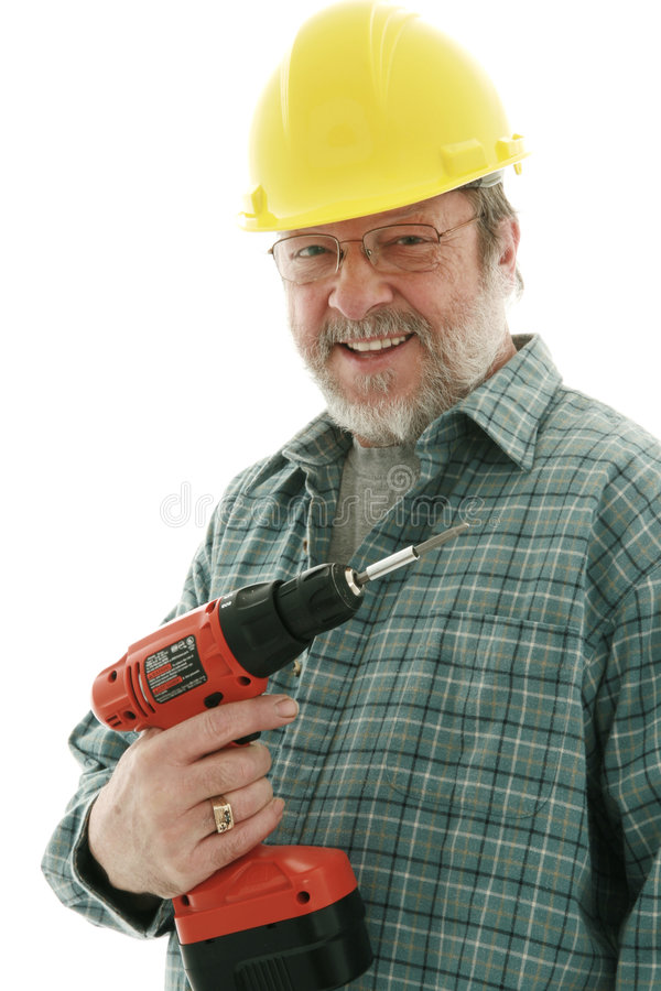 Smiling  Construction  Man Royalty Free Stock Photos