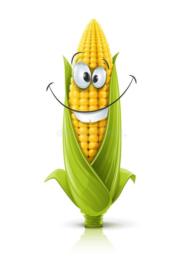 Smiling corncob. Corncob vector illustration color on white background vector illustration