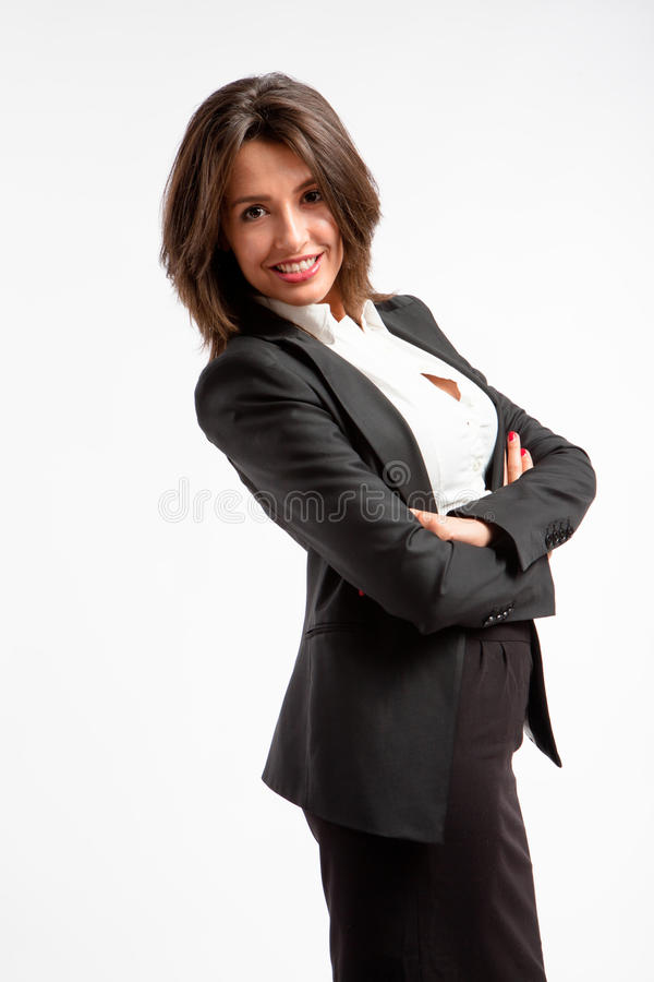 Smiling corporate woman royalty free stock photo