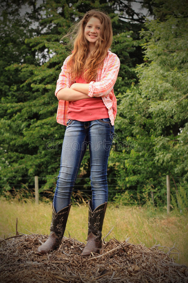 Smiling Country Teen royalty free stock photos