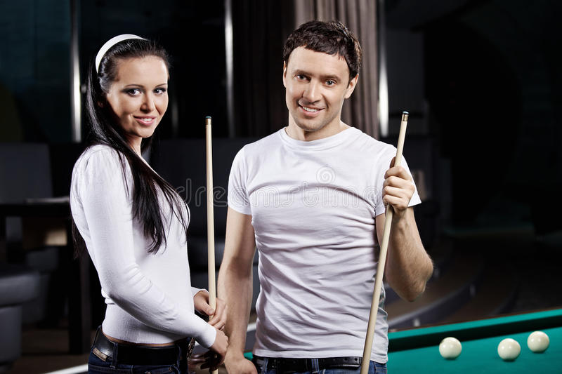 Smiling couple royalty free stock images