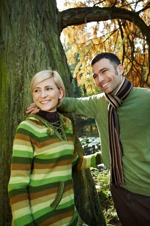 Download Smiling Couple On Autumn Walk Stock Image - Image: 29845549