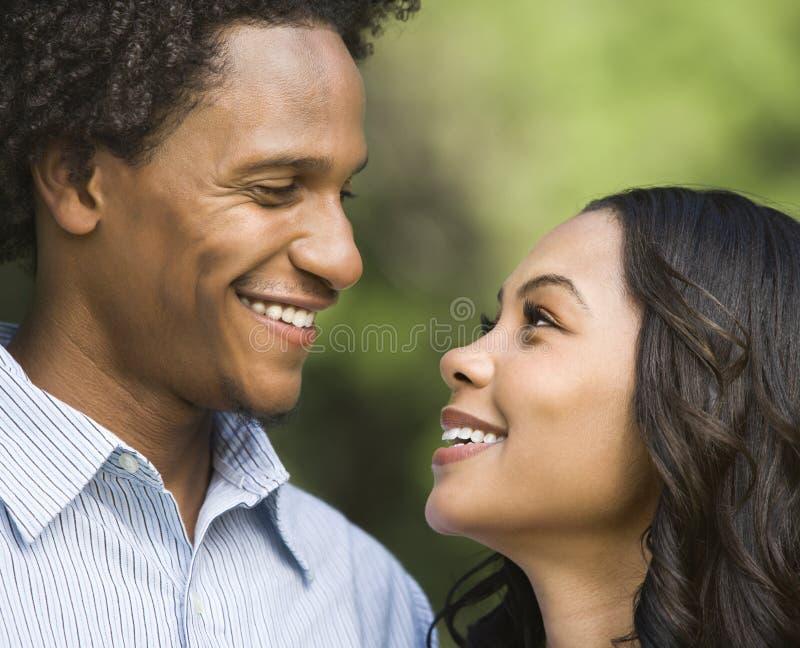 Smiling couple portrait. royalty free stock photos
