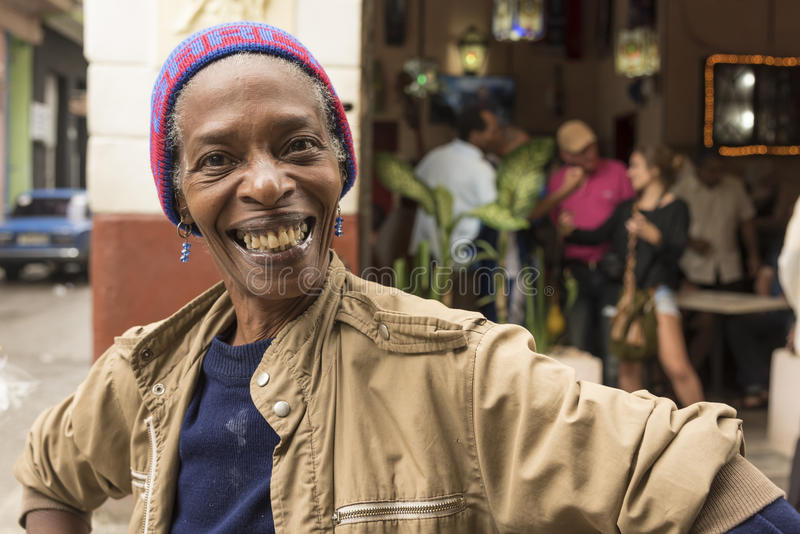 Smiling Cuban woman Havana royalty free stock photography