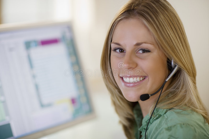 Download Smiling customer service stock image. Image of consultant - 6535993